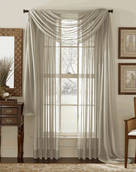 Sheer Voile Elegance Curtain & Scarf Panel – Silver / Grey – Stylemaster - Contemporary & Modern Curtains
