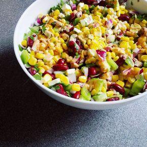 Salat, Sommersalat, Sommerrezept, Mais, Beilage