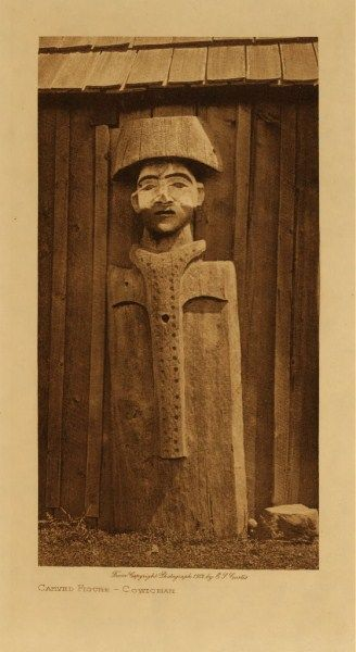 Cowichan Carved Figure