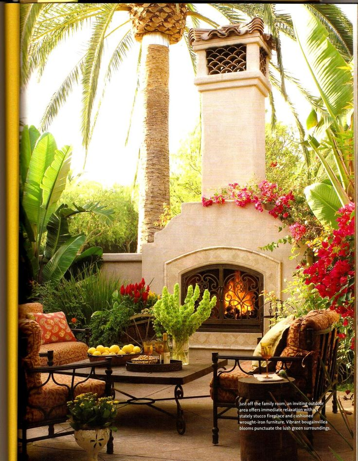 1003 best images about spanish haciendas on pinterest for Spanish style outdoor fireplace