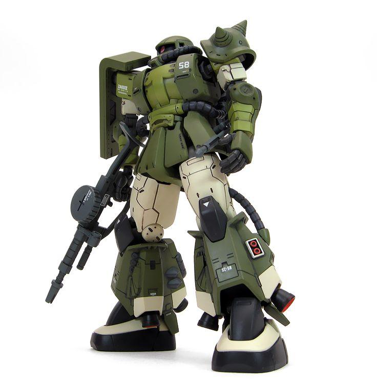 GUNDAM GUY: HG 1/144 Zaku II The Origin - Painted Build