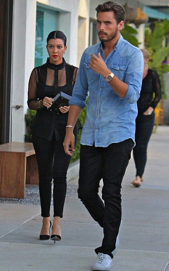 Kourtney kardashian and scott disick street style