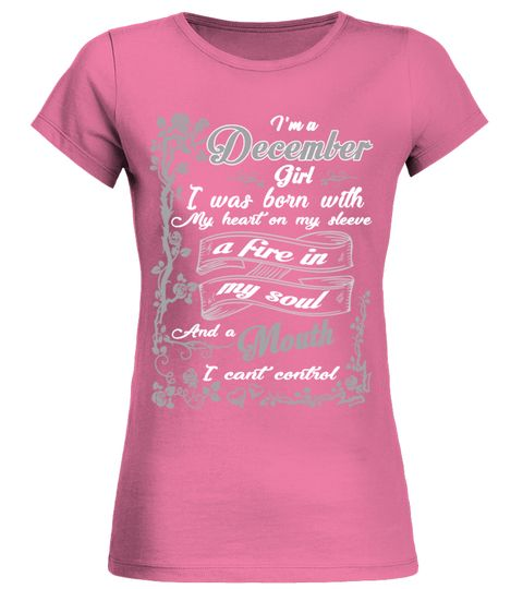 # DECEMBER GIRL BORN WITH HEART ON SLEEVE .  See more DECEMBER designs at:https://www.teezily.com/stores/i-am-a-december-girl-tshirthttps://www.teezily.com/stores/december_woman_shirt_birthdayOr search for your dreams here:Special Offer, not available anywhere else!      Available in a variety of styles and colors      Buy yours now before it is too late!      Secured payment via Visa / Mastercard / Amex / PayPal / iDeal      How to place an order            Choose the model from the…