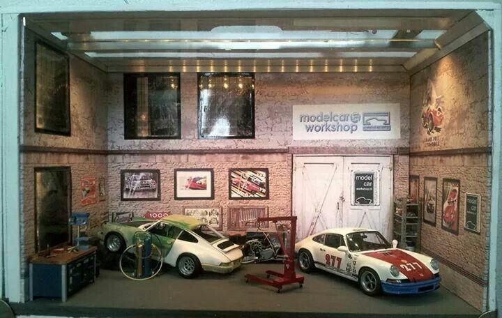 garage ac ideas - Magnus Walker s Porsche diorama 1 18