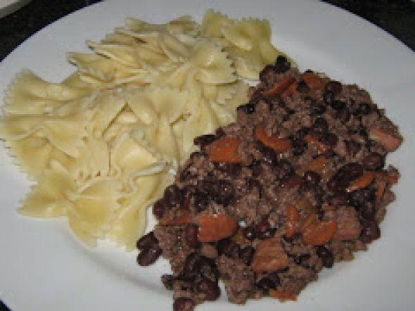 Carne Picada com Feijão preto