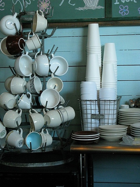 I love the coffee cup display tree thingy!!  Great!