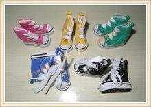 Мода мини-холст обувь 4.5 см для 1/6 маштаба куклы, Бжд куклы аксессуары разные цвета(China (Mainland))