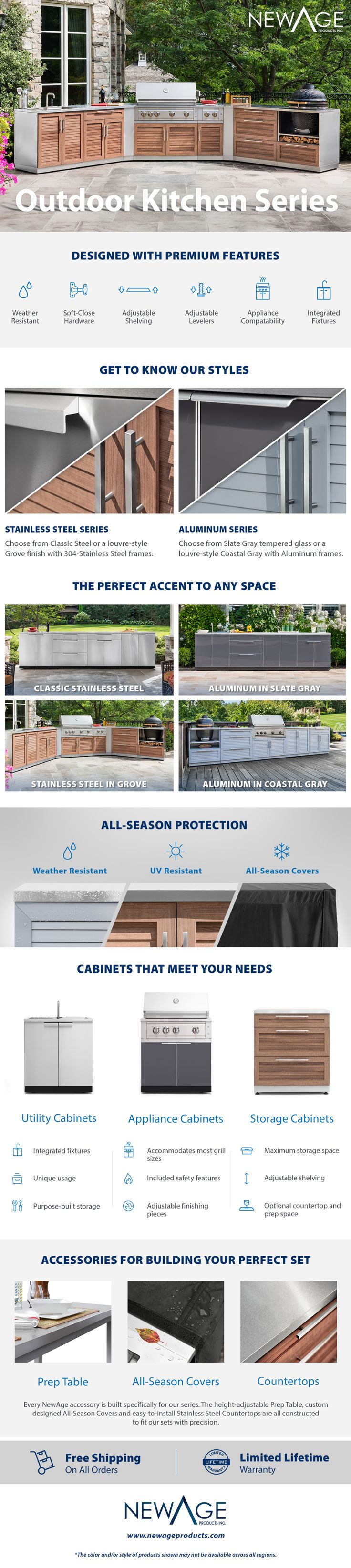 NewAge Products Outdoor Kitchen Grove 32 in. W x 36.5 in ...