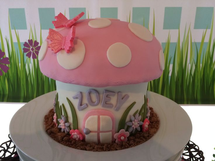 Fairy Garden Party Toadstool Cake