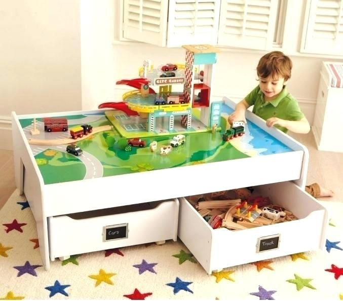 Kids Play Table With Storage Kids Activity Tables Kids Play