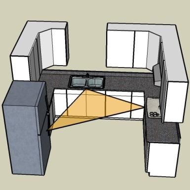 The U-Shaped Kitchen Layout - Chris Adams, Copyright 2008, Licensed to About.com