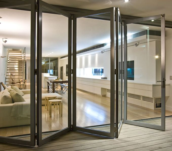 Expandable Spaces with Aluminium Sliding Windows and Doors :The space saving concept works very well with the Aluminum Sliding Windows and Doors. One doesn't need to think about the direction in which they will open and also can place furniture according to any furniture plan layout as they don't need to be bothered about the door opening.