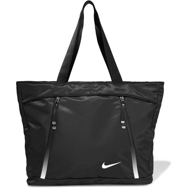 Nike Aura shell tote (2,910 PHP) ❤ liked on Polyvore featuring bags, handbags, tote bags, zipper tote, nike tote bag, tote purses, nike tote and lightweight tote