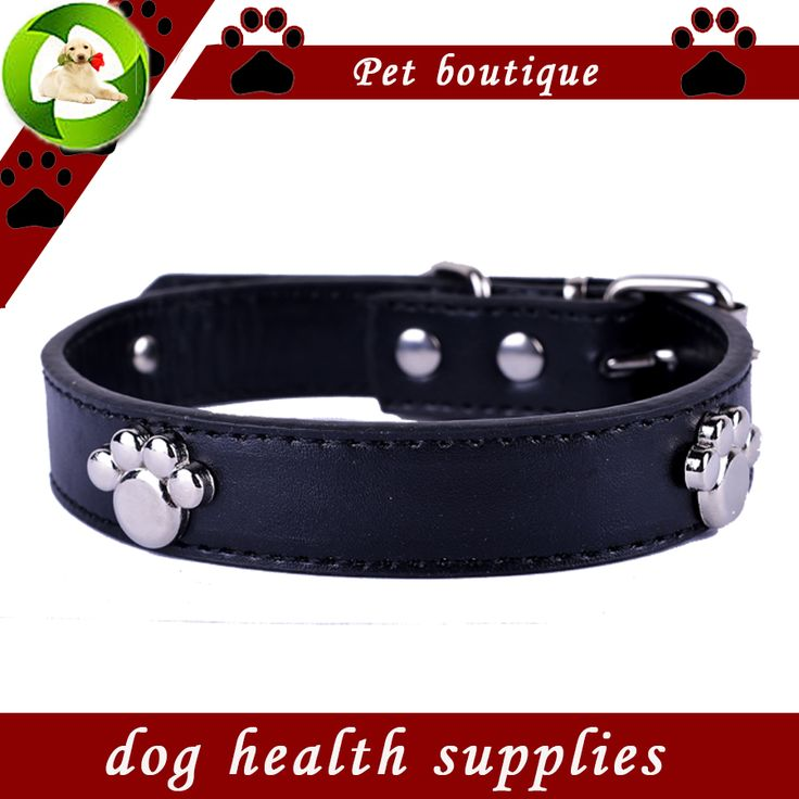 Fashion Dog Collars Personalized Paw Accessories Pu Leather Collar Black Red Yellow Green Colors Collar Lead Pet Products * To view further for this item, visit the image link.