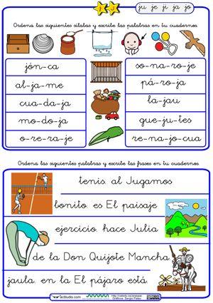 Ordenar palabras y frases J                                                                                                                                                                                 Más