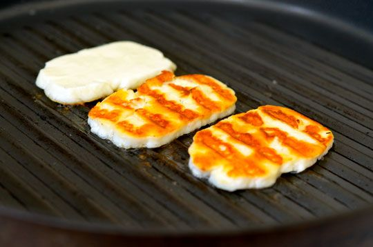 Forget the rest of the salad. Let's grill this weird-ass cheese, Bo.