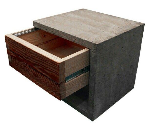 2905 best kon crete images on pinterest cement bathroom - Nachttisch beton ...