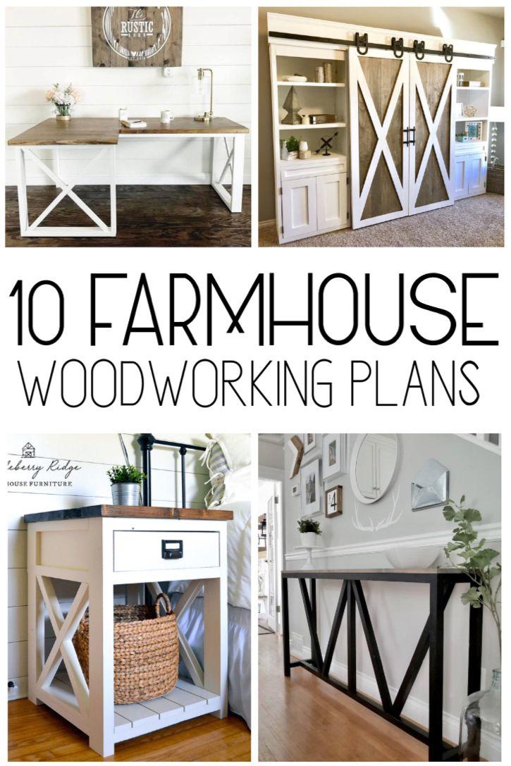 diy farmhouse furniture plans