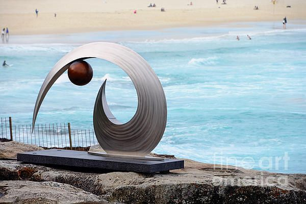 #SCULPTURE BY THE #SEA - #Balance and #Curves - #Photograph by #Kaye #Menner Quality Prints Products at: http://kaye-menner.pixels.com/featured/sculpture-by-the-sea-balance-and-curves-photograph-by-kaye-menner-kaye-menner.html