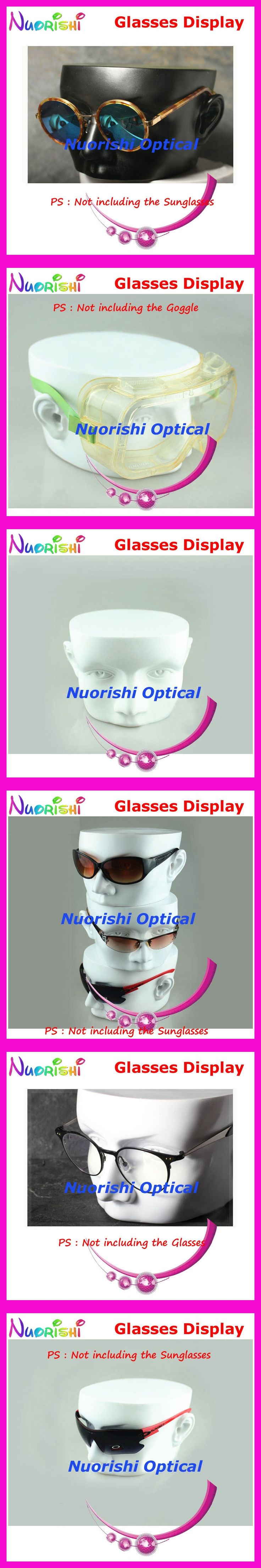 8 Colors Fashion Head Mold Display Stands Model For Optical Eyeglass Sunglasses Eyewear Glasses Store Shop CK102 Free Shipping
