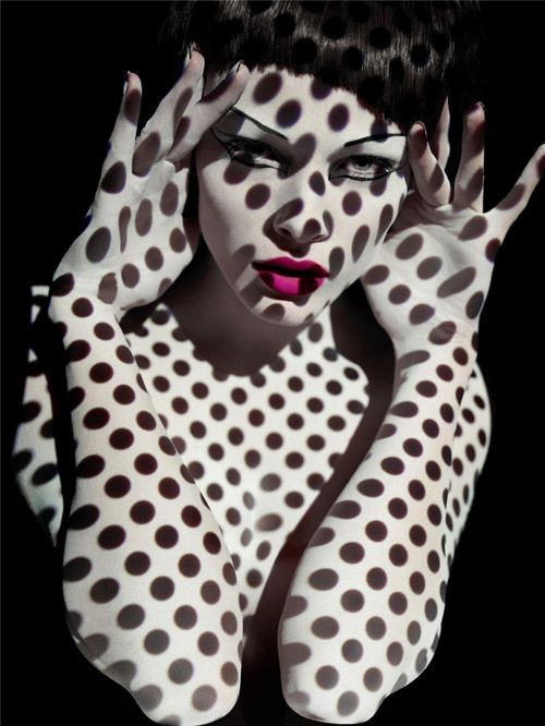 Solve Sundsbo fashion photographer {female head polka dots woman portrait}