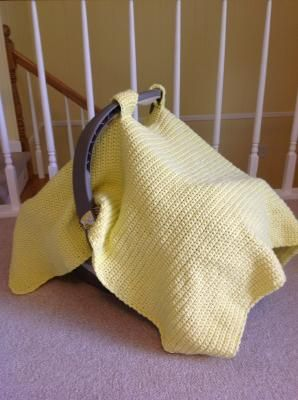 Crocheted Baby Car Seat Cover/Tent  Such a cute idea!: Carseat Covers, Crocheted Baby Car Seat Cover, Crochet Baby Carseat Cover, Car Seat Covers, Carseat Blanket, Baby Car Seats, Baby Blankets, Baby Crochet, Crochet Carseat Cover
