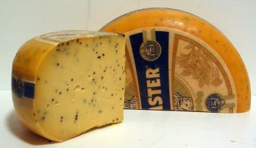 Dutch Beemster Cheese with Mustard Seeds