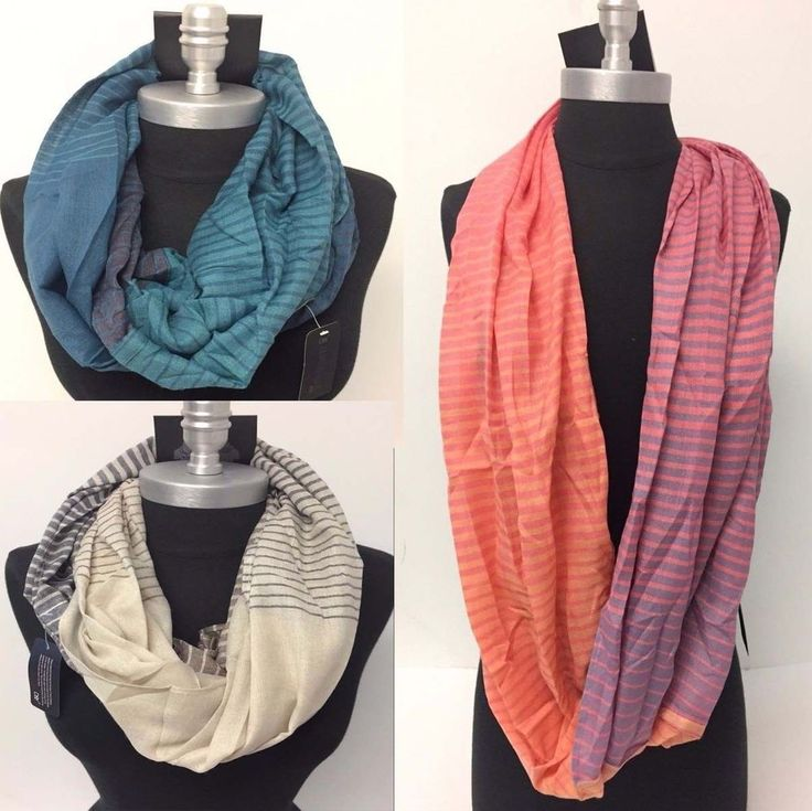 Lot of 10 Wholesale Mens Infinity Scarf Wrap Striped Circle Scarves HIGH QUALITY #DY #CowlInfinity