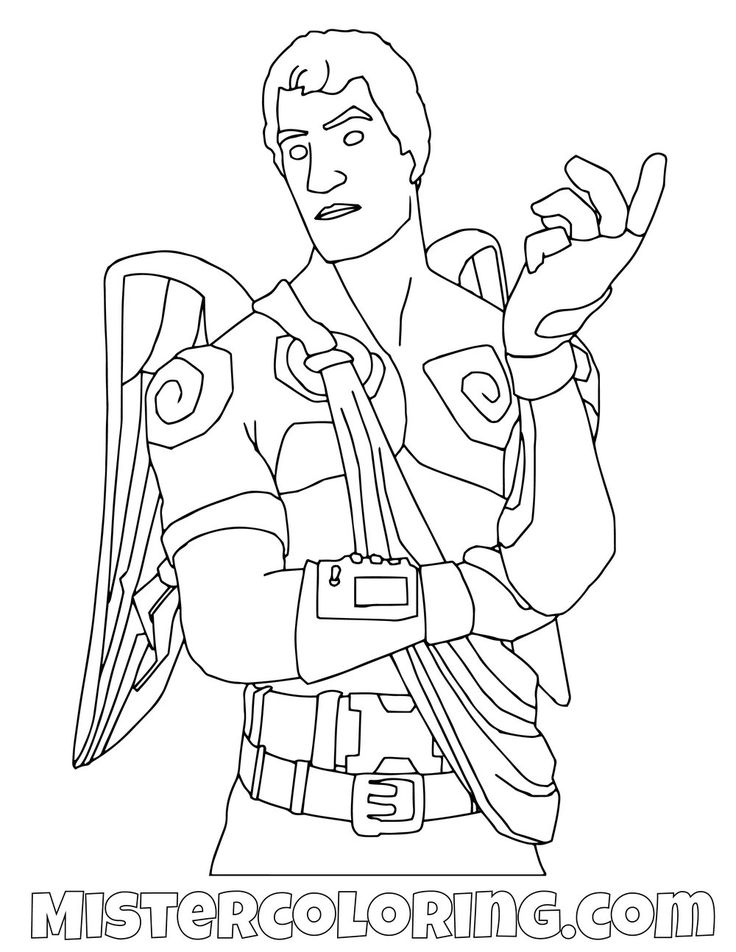 Free Dark Love Ranger Fortnite Coloring Page For Kids