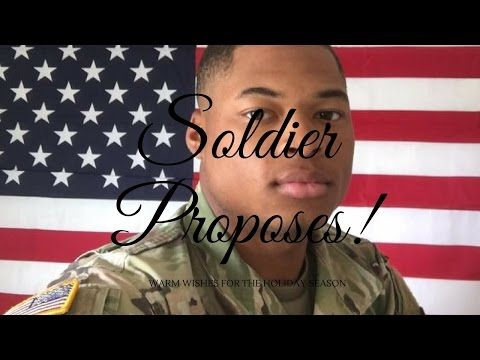 US Soldier Surprises Girlfriend and Proposes - YouTube