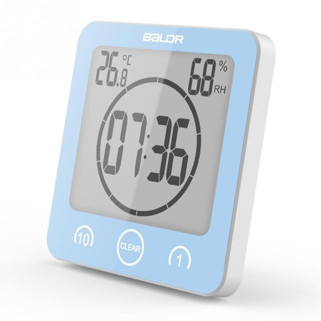 Lcd Digital Wall Clock Digital Bathroom Clock Waterproof Shower