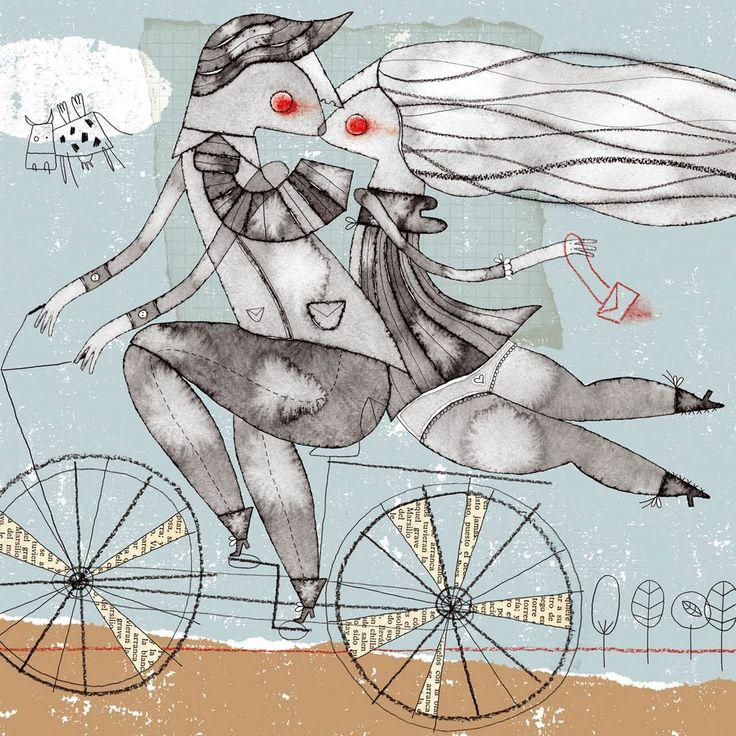 Ilustración de Paloma Valdivia. Simplemente amor.