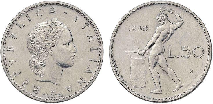 NumisBids: Nomisma Spa Auction 50, Lot 495 : Repubblica italiana (1946-) 50 Lire 1950 Prova in italma – P.P. 712...
