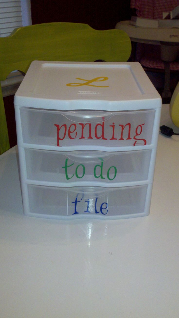 Scrapbook paper organization ideas - Drawers To Organize Receipts And Bills As They Come In