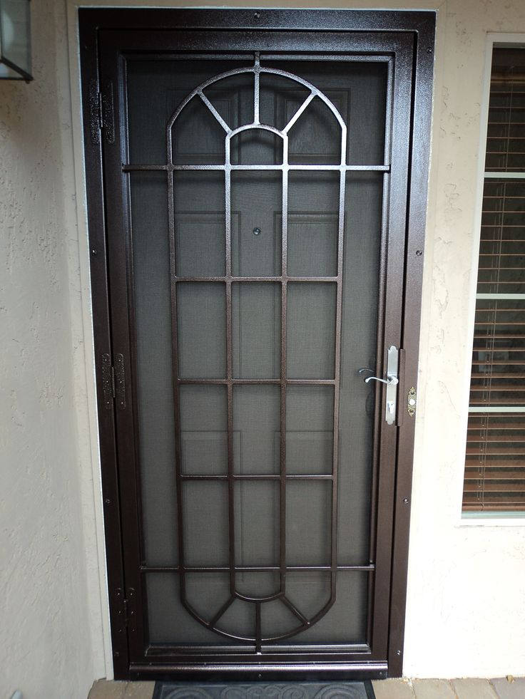 25 best ideas about security door on pinterest front for Entry door with screen