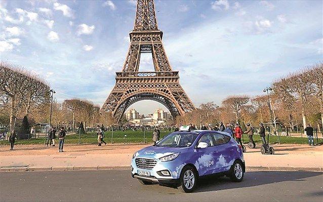 Hyundai Motor - Step: Στο Παρίσι με ταξί ix35 κυψελών καυσίμου   naftemporiki.gr