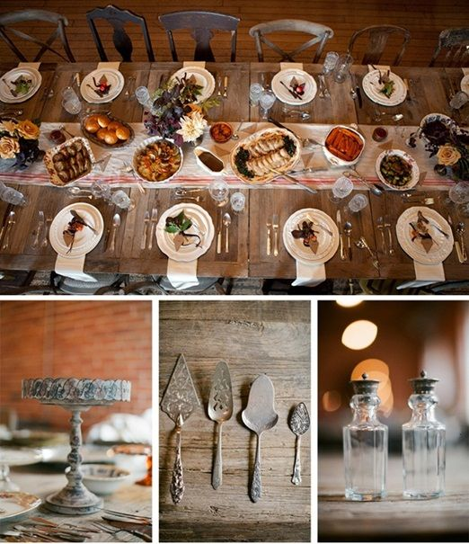 I think the key would be to make sure the table isn't overset. family style rustic seasonal wedding food