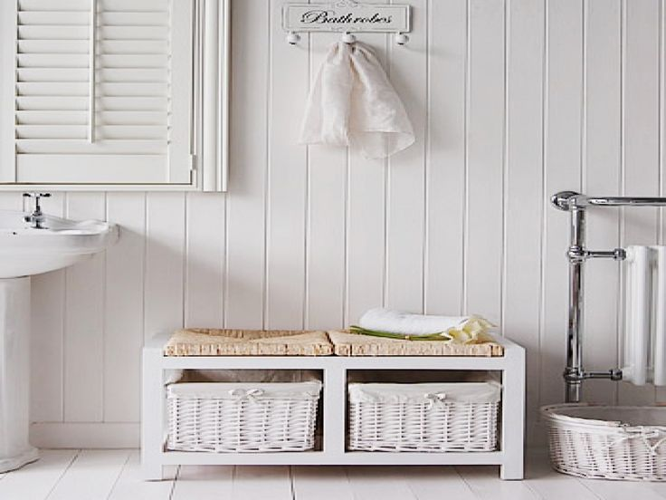 17 best ideas about bathroom bench on pinterest modern - Small storage table for bathroom ...