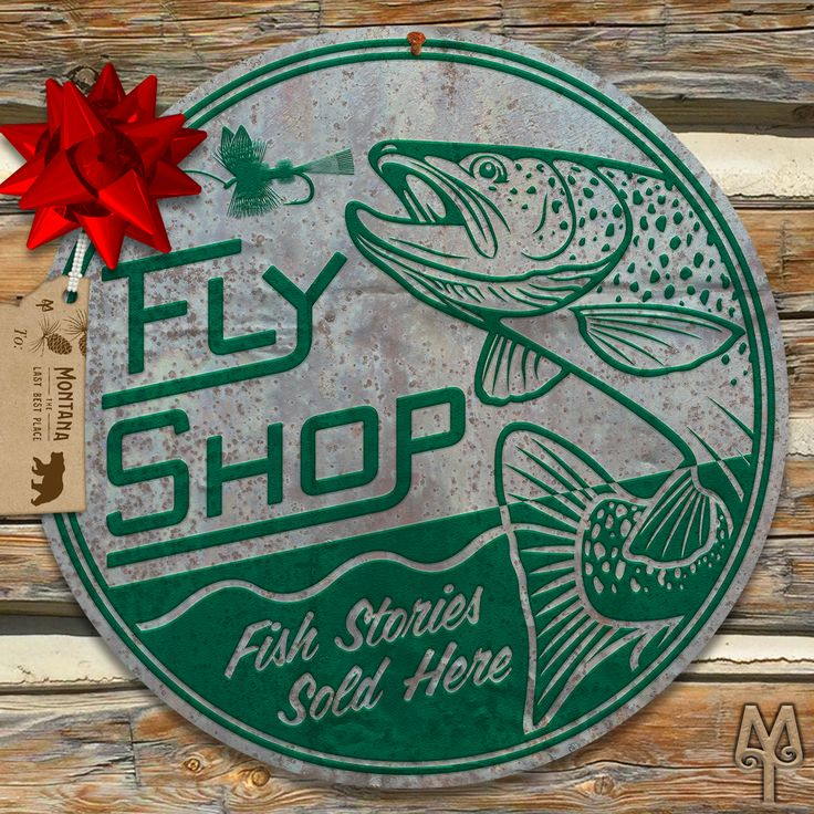 Vintage Fly Fishing and National Park wall signs by Montana Treasures make great holidays gifts. Shop now!