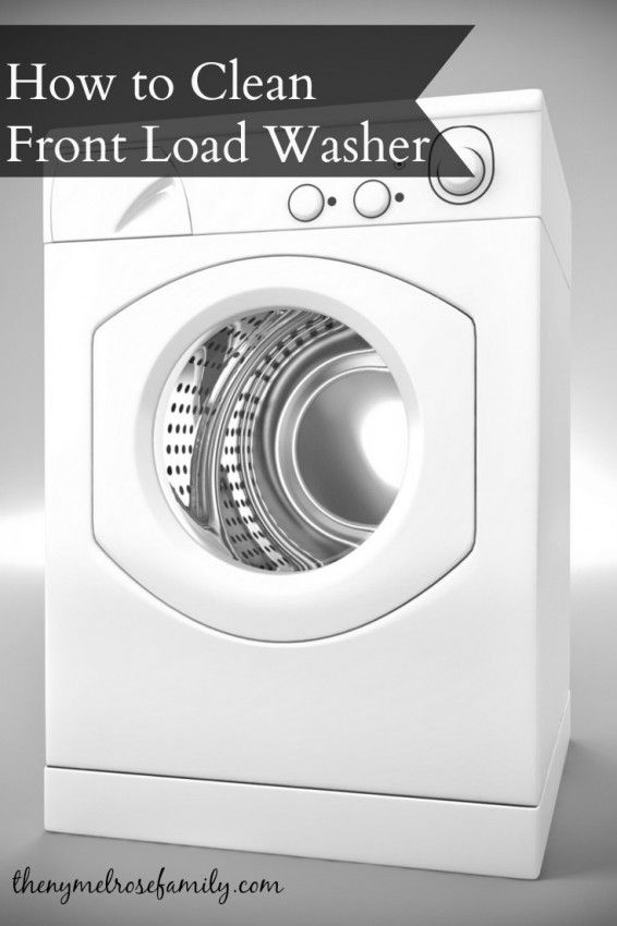 how to clean a front load washer naturally