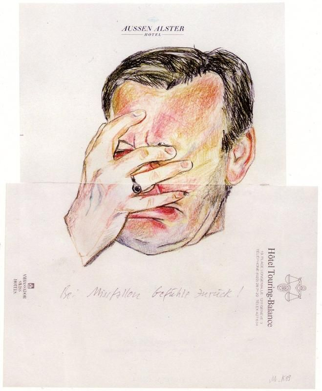 Dialogue with the Youth of Today (detail), 1981 by Martin Kippenberger. Neo-Expressionism. self-portrait