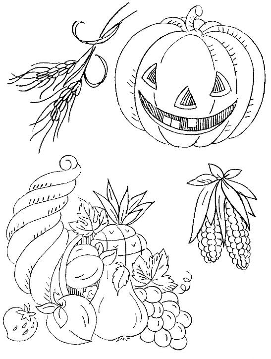 138 Best Images About Coloring Pages Thanksgiving On