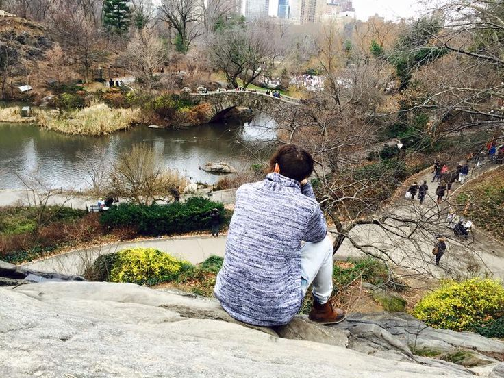 Admiring the view in Central Park, New York
