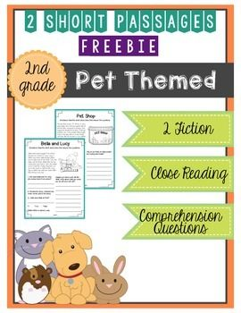 Your+students+will+love+this+freebie!+This+freebie+is+part+of+a+larger+product.20+Short+Passage:+Pet+Themed+{Print+and+Go}These+no+prep,+short+passages+are+excellent+for+second+graders+to+practice+comprehension!++Your+students+will+be+able+to+practice+with+2+fiction+passages.