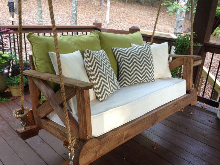 Best 25 porch swings ideas on pinterest for Swing bed plans