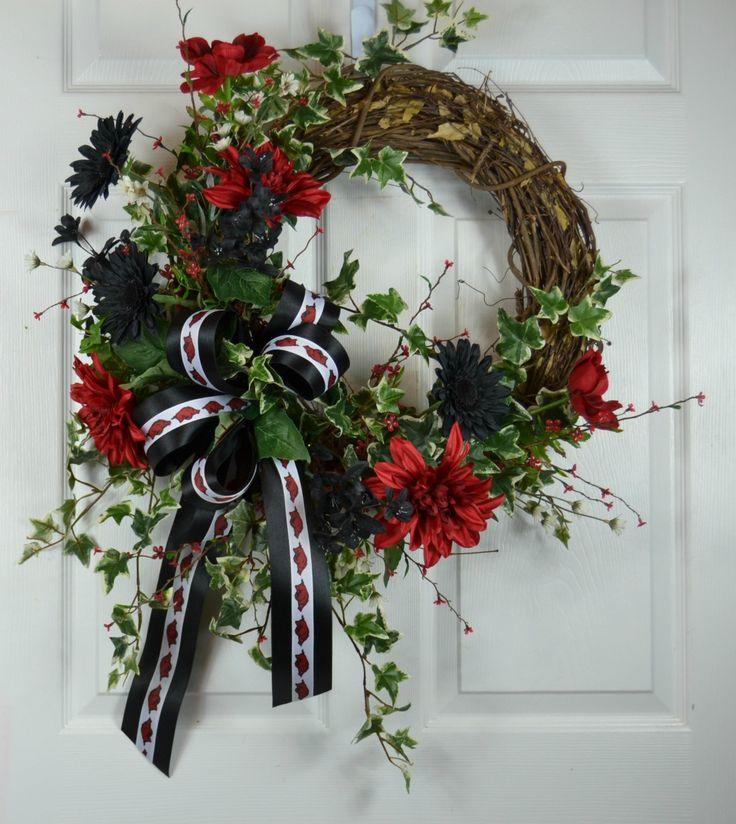 Arkansas Razorbacks Football Wreath