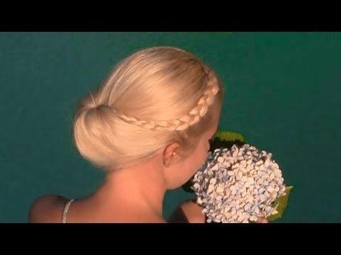 Gibson tuck hairstyle - quick and easy everyday updo tutorial for medium long hair with lace braids