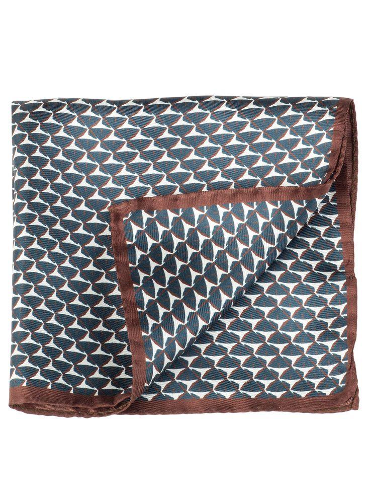 men's Italian silk pocket square