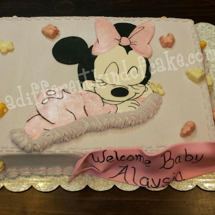 Minnie Mouse Baby Shower Cake Images : Minnie Mouse baby shower cake Birthday cakes Pinterest