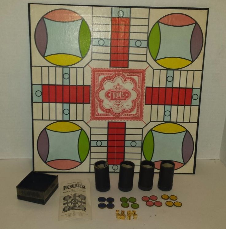 Vintage Parcheesi Board Game - Selchow & Righter Co. Publishing Complete!!! #SelchowRighter